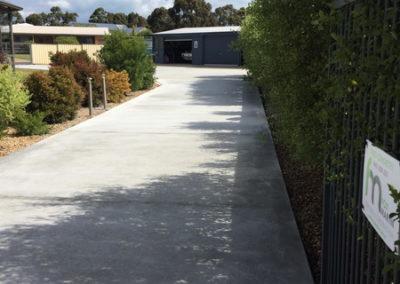 Newlands Arm concrete driveway 6